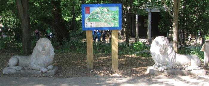 Concrete Lions at Henry Vilas Zoo