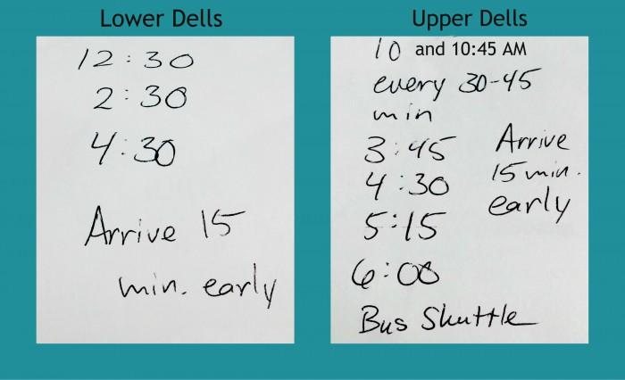 Dells Boat Tour Schedule 2015