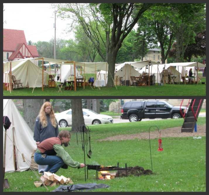 Encampment in Milton