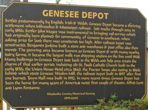 Genesee Depot Sign