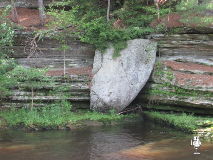 Giant's Shield watermark  in Upper Dells