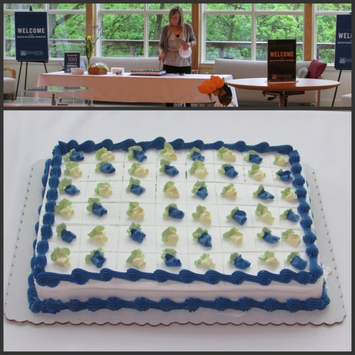 Greater Milwaukee Foundation cake at Ten Chimneys
