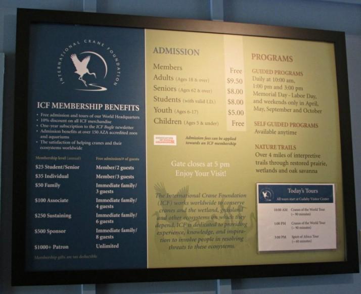 ICF Inside sign
