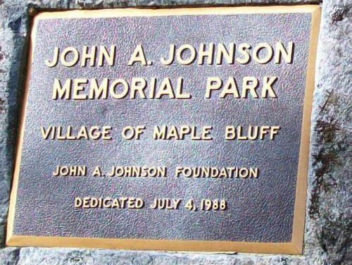 John A. Johnson Memorial Park Plaque