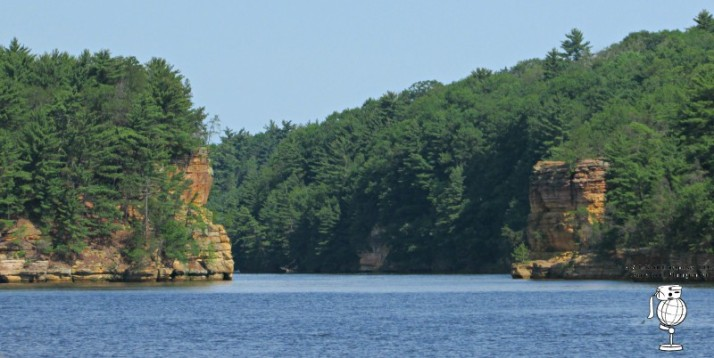 Romance Cliff and High Rock - Upper Dells Watermark