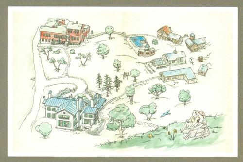 Ten Chimneys Map
