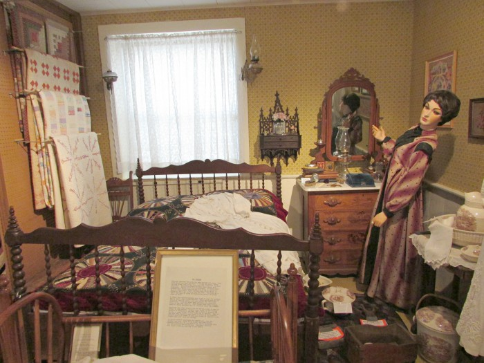 The Bedroom display at Stoughton Historical Museum