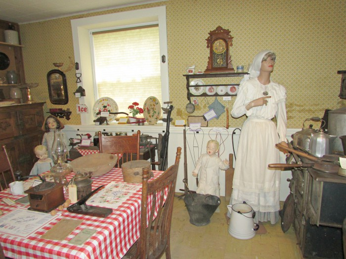 The Kitchen display at Stoughton Historical museum
