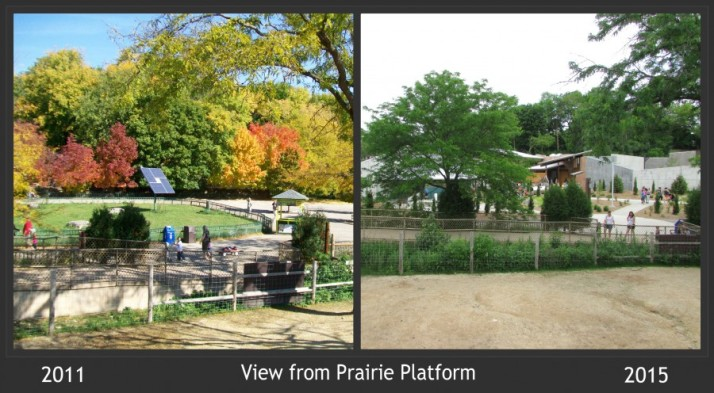 View from Prairie Platform at Vilas 2011 and 2015