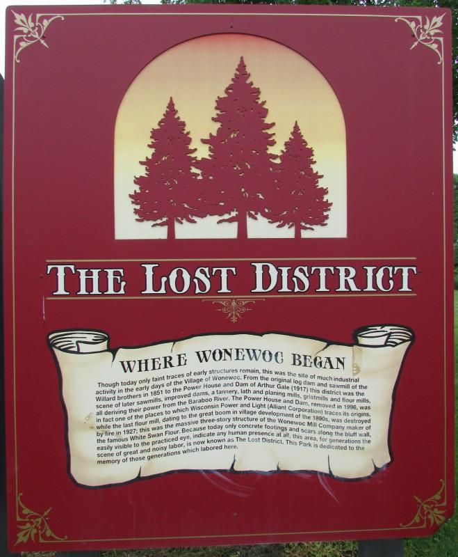 Wonowoc Lost District sign