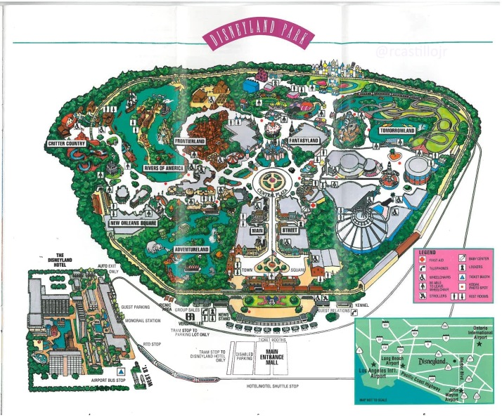 1992 Disneyland Map