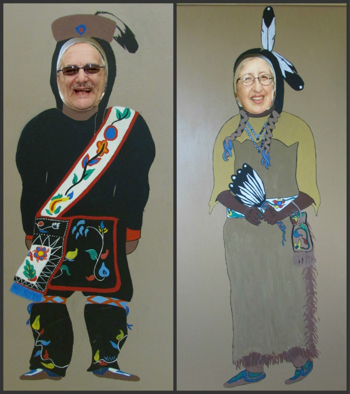 AL and Laurie Indian cut outs