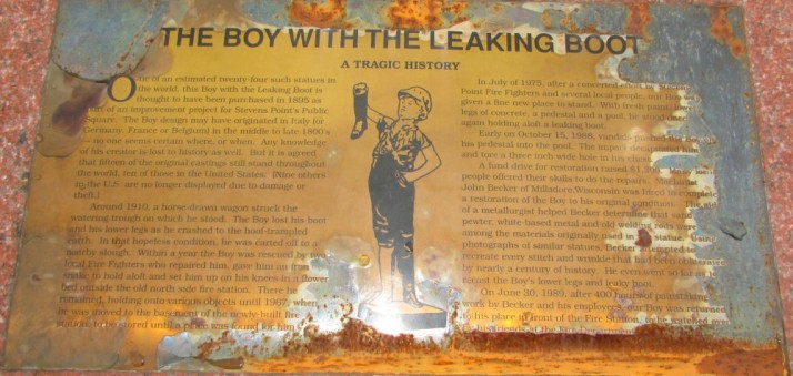 Boy With Leaking Boot sign