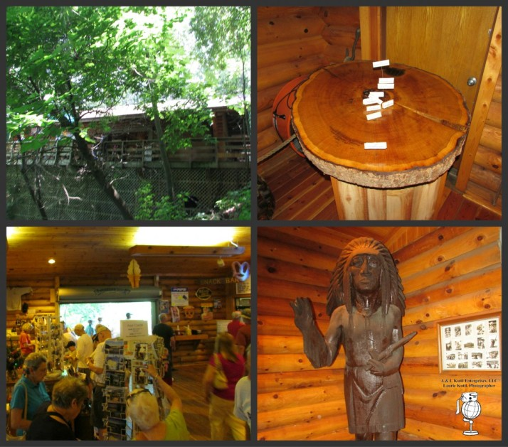 Concession Building collage at Stand Rock in Dells WM