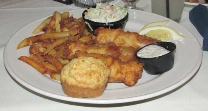 Fish fry at Jeromes at Inn on the Park