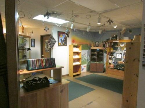 Gift shop at Ojibwe Museum