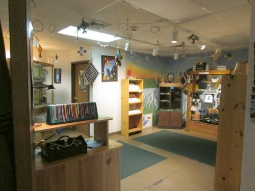 Gift shop at Ojibwe Museum