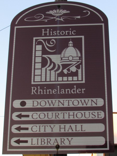 Historic Downtown Rhinelander sign