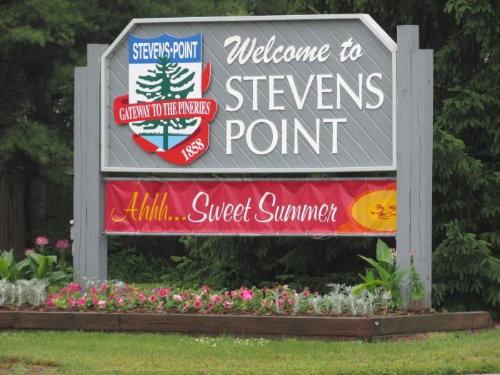 Stevens Point sign