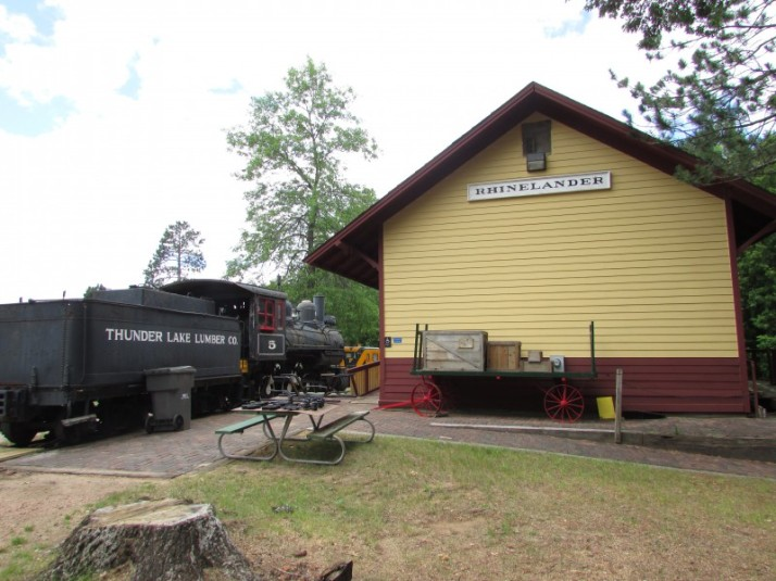 Rhinelander Depot and #5 Engine