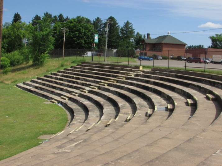 Performance area at Lac du Flambeau