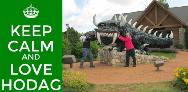 Keep Calm and Love Hodag selfie