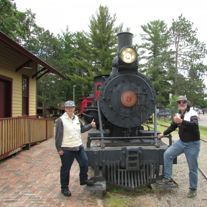 Locomotive #5 and us