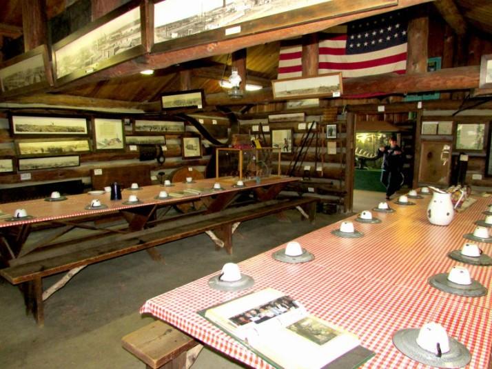 Logging Camp Dining Room in Rhinelander