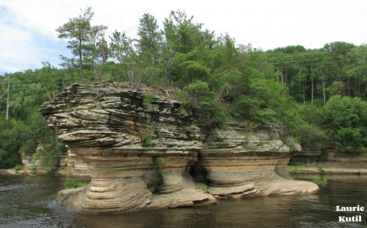 Lone Rock in Lower Dells WM