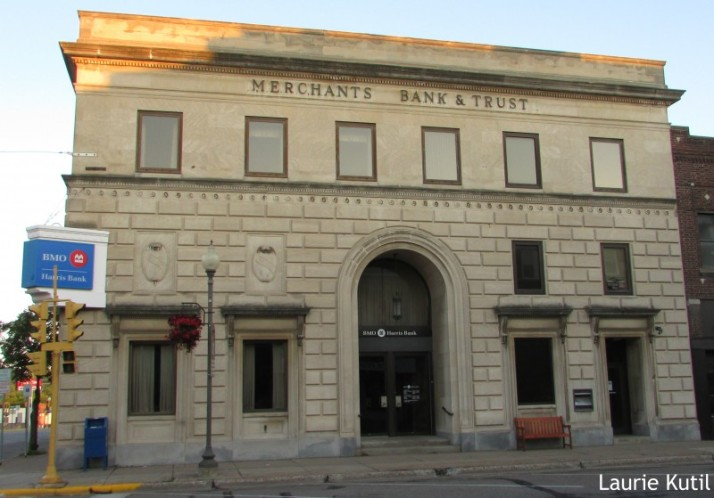 Merchants Trust Bank Building in Rhinelander WM