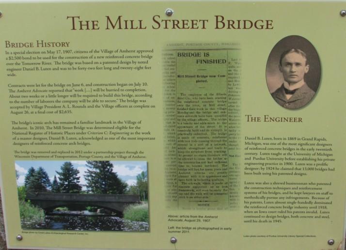 Mill Street Bridge History in Amherst