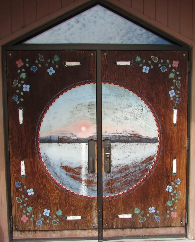 Ojibwe Museum Doors