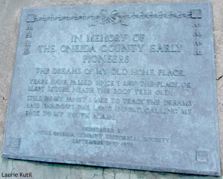 Onieda County Pioneers marker in Rhinelander WM