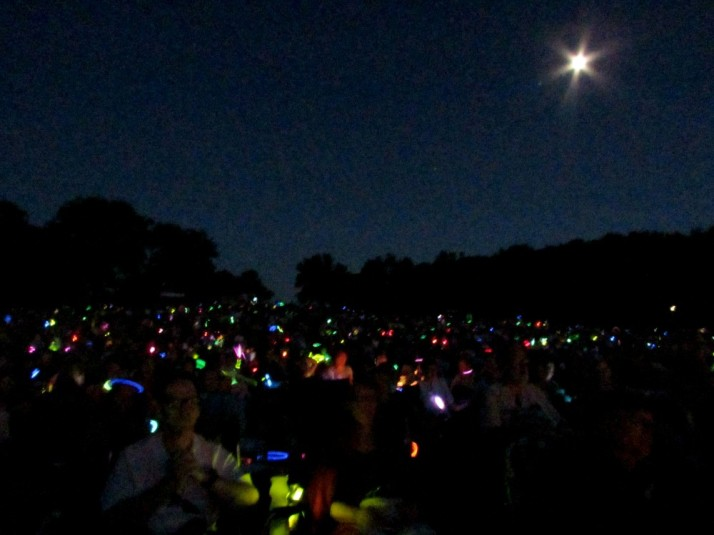 Opera in the Park Lightstick Show