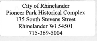 Pioneer Park address