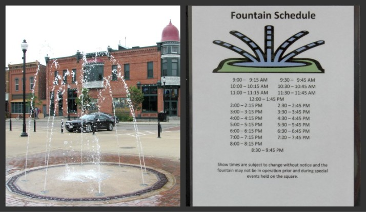 Public Square Fountain and schedule in Stevens Point