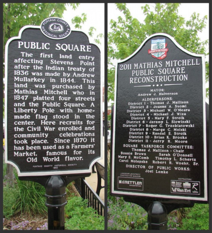 Public Square Markers Stevens Point