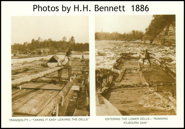 Rafter on WI River H.H. Bennett 1886