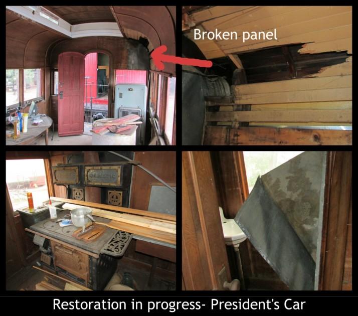 Restoration in progress description Presidents car in Rhinelander