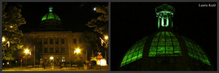 Rhinelander Courthouse night WM