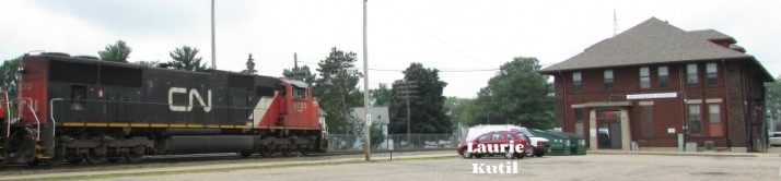 Stevens Point Depot and train WM