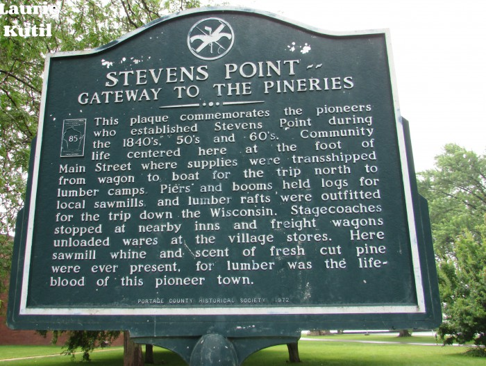 Stevens Point Gateway to the Pineries marker WM