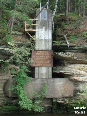 Streamflow Gaging Station in Lower Dells WM