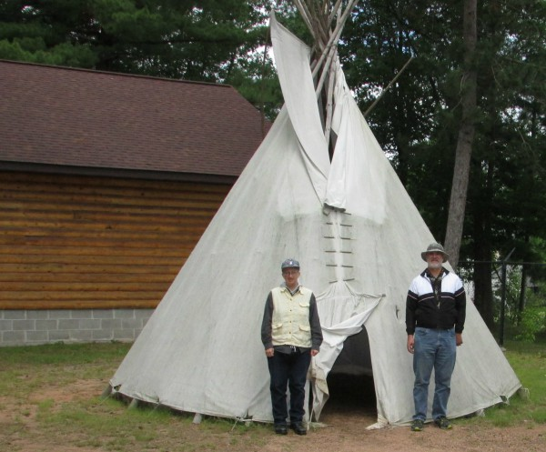 Teepee and us in Rhinelander
