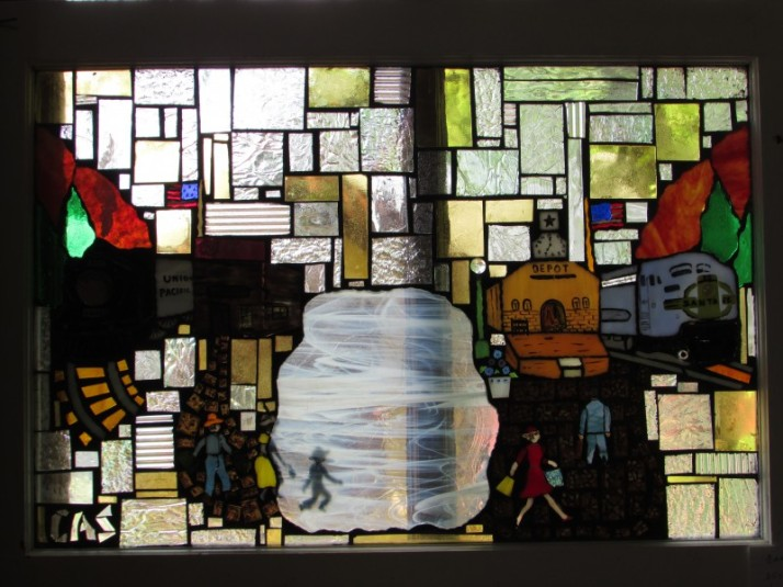 Train Stained Glass window