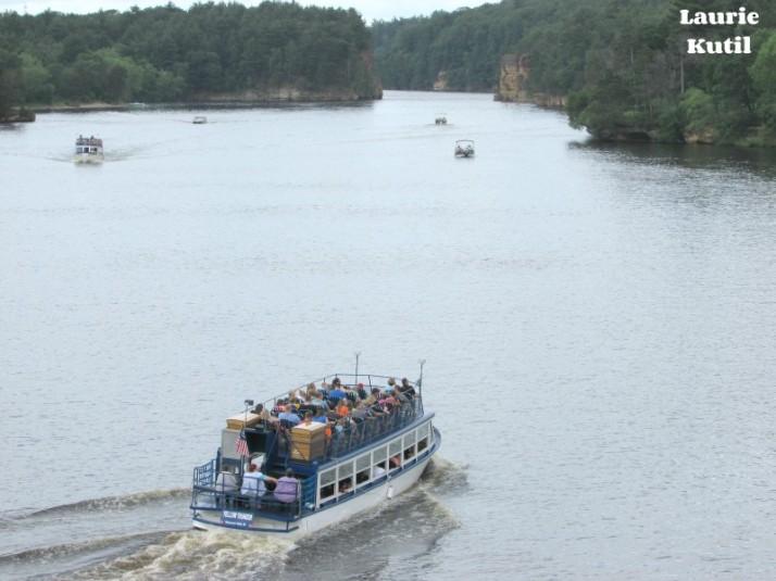 Upper Dells Boat Tour leaving WM