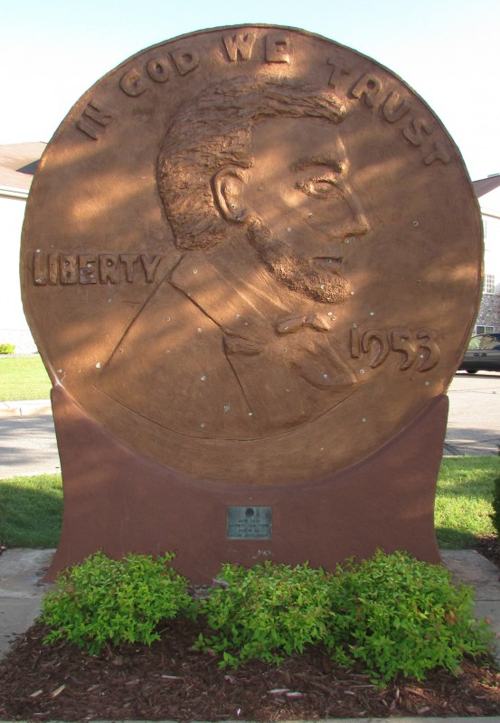 World's Largest Penny in Woodruff