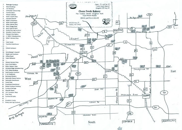 Amish Wisconsin Map.Amish Country Shopping In Wisconsin Adventures In Travel