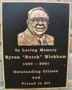 Byron Bickham plaque of Lodi