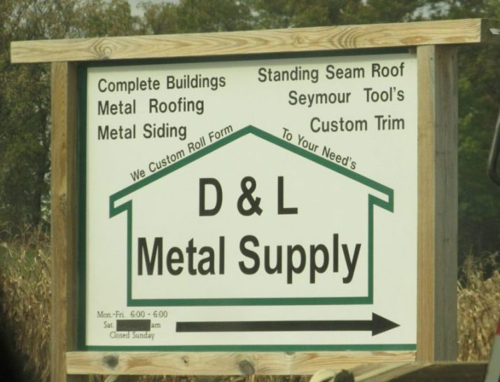 d-and-l-metal-supply-sign